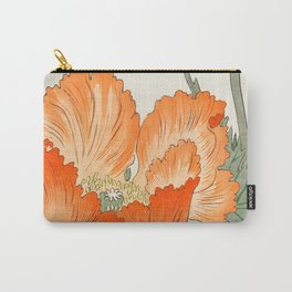 Blossoming Flower - Vintage Japanese Woodblock Print Art Carry-All Pouch