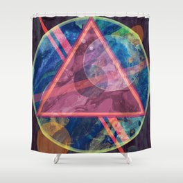 Mystic Astrology Geometry Shower Curtain