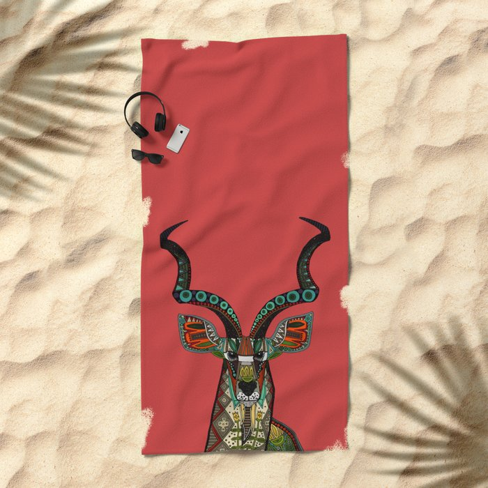 antelope red Beach Towel