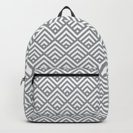 Ultimate Gray simple Art Deco striped Fans Backpack