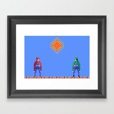 Mario vs Luigi Framed Art Print