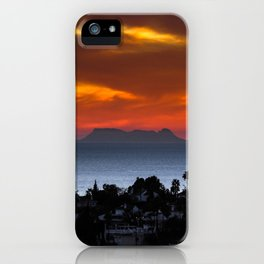 Gibraltar Sunset iPhone Case