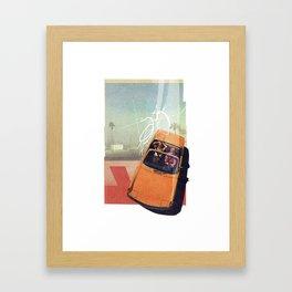 Getaway Car   Collage Framed Art Print