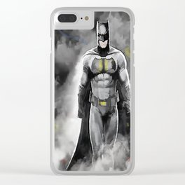 Superheroes 1 Clear iPhone Case