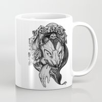 red riding hood Mugs featuring Riding Hood by FLORA+FAUNA