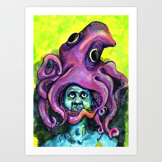 Derek the Octopus Art Print