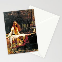 John William Waterhouse - The Lady Of Shalott - Digital Remastered Edition Stationery Cards