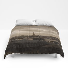 Rooftop view of Paris Comforters