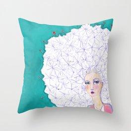 Puffball by Jane Davenport Throw Pillow