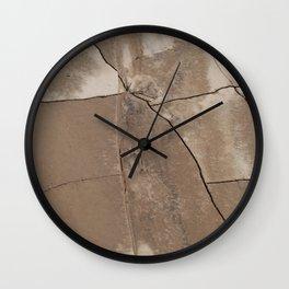Cracked Clay Wall Clock