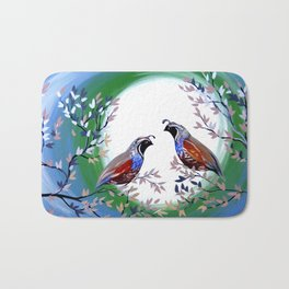 Quails and Serenity Bath Mat