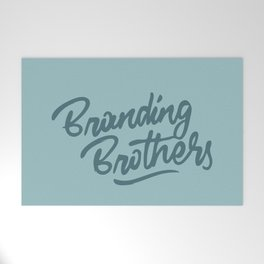 Branding Brothers turquoise Welcome Mat
