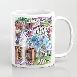St. Louis Skyline Watercolor Coffee Mug