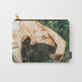 Jungle Vacay #painting #portrait Carry-All Pouch