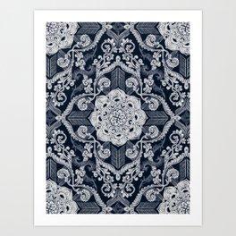 Centered Lace - Dark Art Print