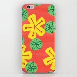 Retro Bright Floral iPhone Skin
