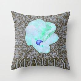 Beauty (Blue) Throw Pillow