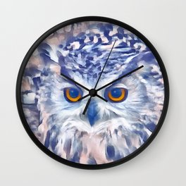 Fluffy owl Wall Clock