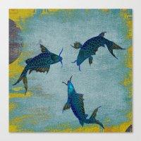 koi Canvas Prints featuring Koi  by Saundra Myles