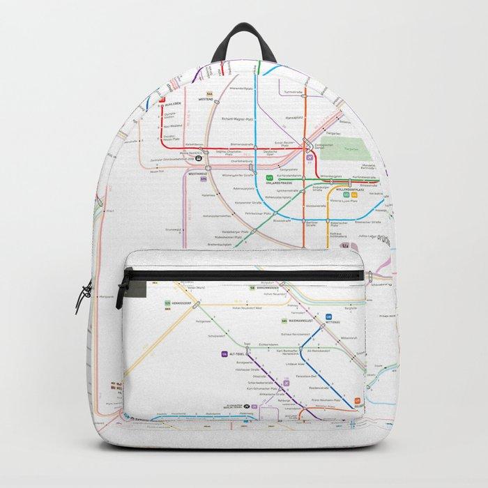 Germany Berlin Metro Bus U Bahn S Bahn Map Backpack By - Berlin-us-bahn-map