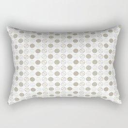 Dancing Grey Circles by Deirdre J Designs Rectangular Pillow