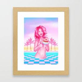 Vaporwave Dessert Framed Art Print
