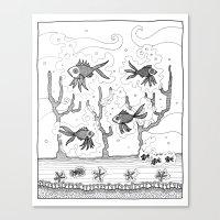 underwater Canvas Prints featuring Underwater by Condor