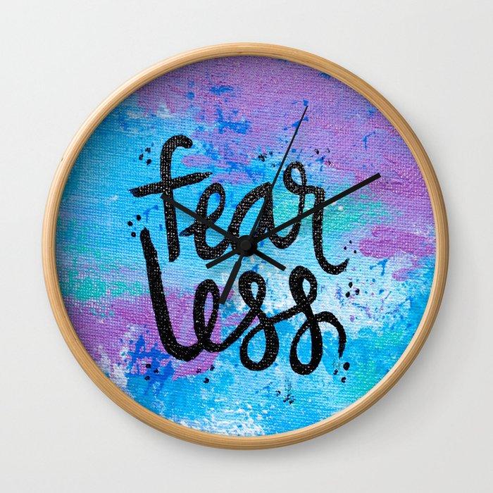 Fear Less Wall Clock