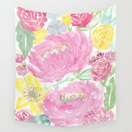 Summertime Peonies Wall Tapestry