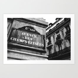 Champs Elysees Art Print