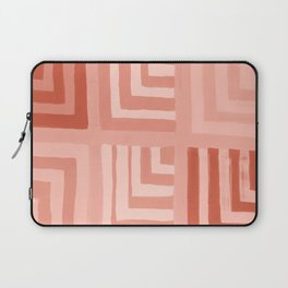 Painted Color Block Squares in Peach Laptop Sleeve