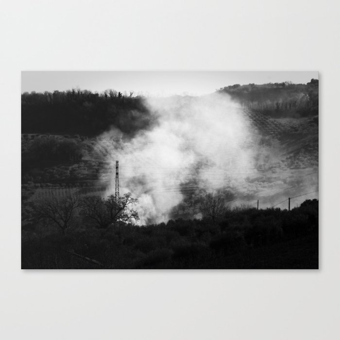 You Can Hide The Fire, But What Will You Do With The Smoke? Canvas Print
