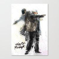 daft punk Canvas Prints featuring Daft Punk by Jason Cai