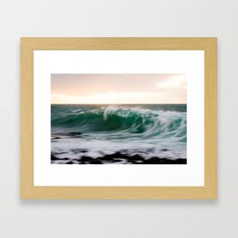 Dawn Wave Framed Art Print
