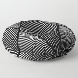 Folded Black & Silver Floor Pillow