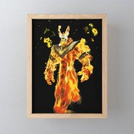 Fire Demon Framed Mini Art Print