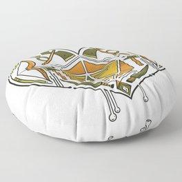 D20 Dice in heart Floor Pillow