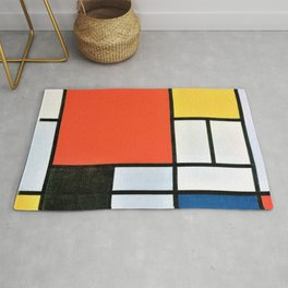 Composition With Red, Yellow, Blue, And Black - Piet Mondrian Rug