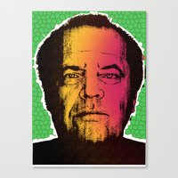 jack nicholson Canvas Prints featuring Jack Nicholson by RDotA Grapfiks