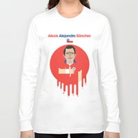 chile Long Sleeve T-shirts featuring Alexis Sanchez - Chile by Gary  Ralphs Illustrations