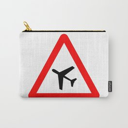 Low Flying Aircraft Traffic Sign Isolated Carry-All Pouch