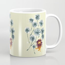 Lion on dandelion Coffee Mug