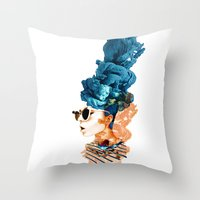 sunglasses Throw Pillows featuring sunglasses by PLASTIK FACTORY