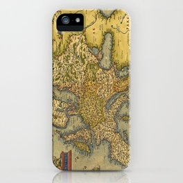 Vintage map of Europe iPhone Case