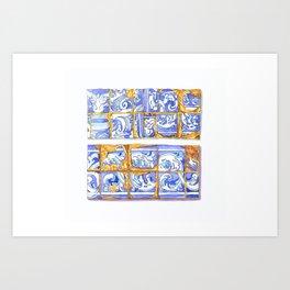 vintage tiles Art Print