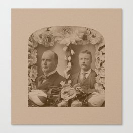 McKinley and Roosevelt Canvas Print