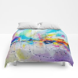 Travel of color Comforters