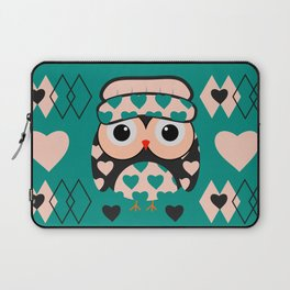 Owl and heart pattern Laptop Sleeve