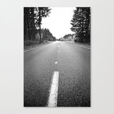 down the road.  Canvas Print