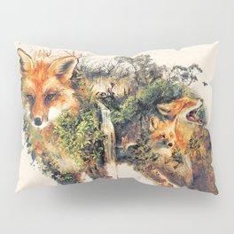 The Fox Nature Surrealism Pillow Sham